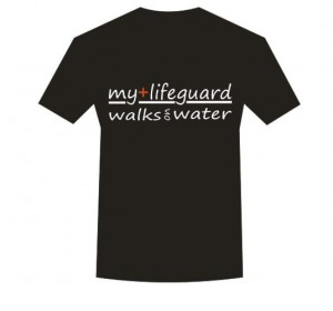 Koszulka T-shirt My lifeguard walks on water