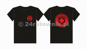 Koszulka T-shirt lifeguard on duty cross
