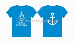 Koszulka T-shirt keep calm and call lifeguard