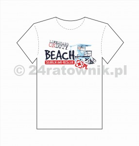 Koszulka T-shirt Lifeguard on duty BEACH SEARCH AND RESCUE POLAND